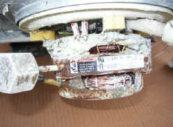 Water-damaged Whirlpool dishwasher motor