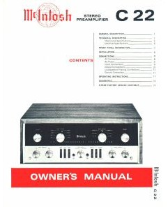 C22 Preamp Manual Cover